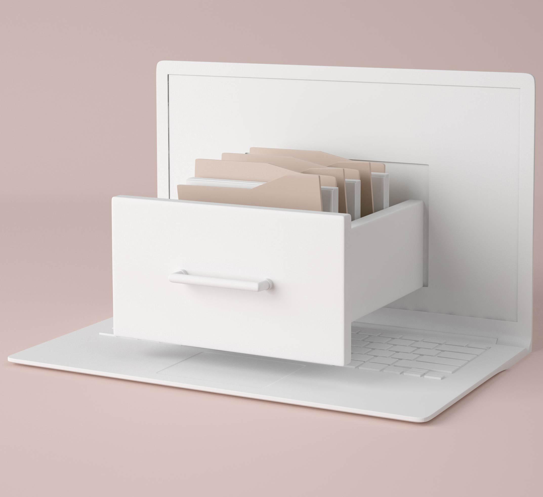 Szuflada z archiwum - koncept