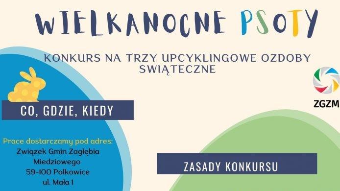 plakat informacyjny o konkursie wielkanocnym